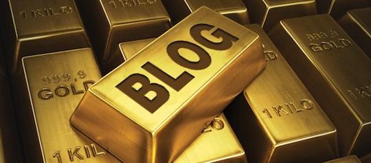 Bloggen is goud waard